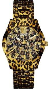 Guess Guess W0001L2 Ladies FIERCE Leopard Gold Watch