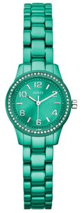 Guess GUESS Watch, Women's Color Pop Turquoise Aluminum Bracelet 26mm U90039L2