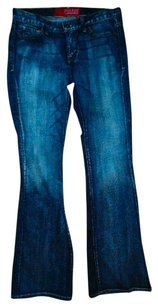 Guess Size 28 Lowrise Boot Cut Jeans-Medium Wash