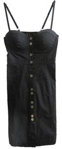 Guess short dress Black/Gold Buttons Little Black on Tradesy