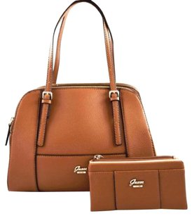 Guess Flowing Satchel in Brown