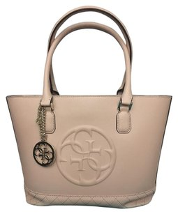 Guess Satchel in Cream white/pink