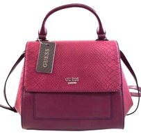 Guess Colmar Wine Satchel in Red
