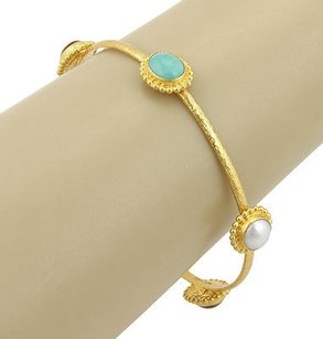GURHAN Gurhan 24k Yellow Gold Multi Color Stone Afghan Bangle Bracelet