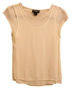 H&M Top White Cream Crepe Fashion Star Blouse Tank