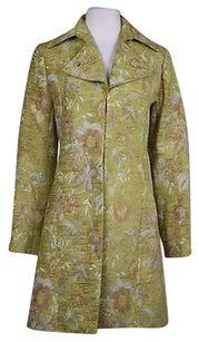 H&M Hampm Womens Floral Trench Med Jacket Trench Coat