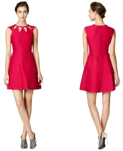Halston Cut Out Fit Flare Flare Party Dress