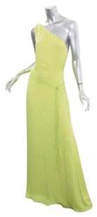 Green Maxi Dress by Halston Womens Lime