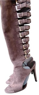 Halston Suede Leather Brown Boots