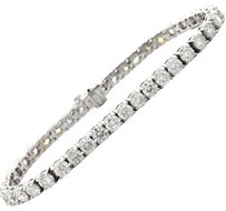 14k Solid White Gold 11.85ctw H SI1 Diamond Ladies Classic Tennis Bracelet