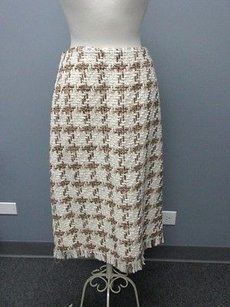 Harvé Benard By Benard Holtzman Wool A Line Sm2604 Skirt cream / brown