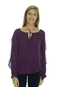 Haute Hippie Silk Long Top Purple