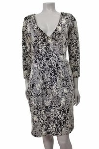 HD in Paris Python Print Texture Wrap Anthropologie Dress