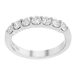 Hearts on Fire Hearts On Fire Seven-stone 7stb00758w 18k White Gold Ladies Wedding Band