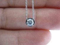 Hearts on Fire Hearts On Fire Round Diamond Solitaire 4-prong Pendant Necklace .38ct G-vs2