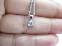 Hearts on Fire Hearts On Fire Round Diamond Solitaire 3-prong Pendant Necklace .25ct G-vs2