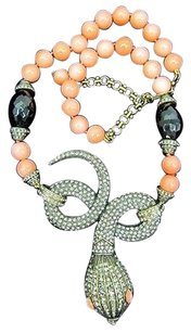 Heidi Daus Heidi Daus Spectacular Serpent Simulated Coral And Crystal Necklace