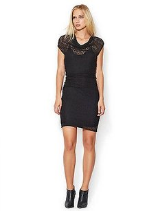 Helmut Lang short dress Blak Puckered Lace on Tradesy