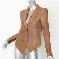 Helmut Lang Womens Tan Brown Jacket