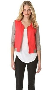 Helmut Lang Coral Red Linen Multi-Color Jacket
