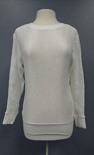 Helmut Lang Light Weight Textured P Cotton Blend Sma9351 Sweater
