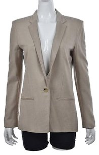 Helmut Lang Helmut Lang Womens Beige Blazer Wool Long Sleeve Career Jacket Wtw