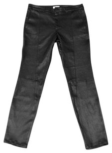 Helmut Lang Leather Stretch Plonge Seamed Moto Pants