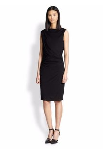 Helmut Lang Scala Open Ruched Cocktail Draped Dress