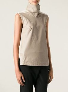 Helmut Lang Nude Mock Neck Top Beige