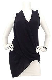 Helmut Lang Asymmetric Top Black