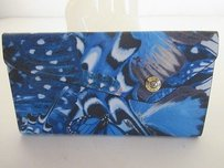 Henri Bendel Henri Bendel West 57th Mind Your Business Flutterfly Print Wallet Blu