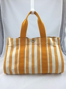 Hermès Hermes Paris Cannes Mm Tote in Orange/ White