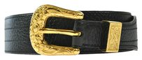Hermès AUTHENTIC HERMES BELT BLACK BROWN GOLD LEATHER SIZE 65 FRANCE VINTAGE A09714
