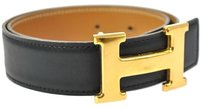 Hermès AUTHENTIC HERMES CONSTANCE H BUCKLE BELT BLACK SIZE 75 VINTAGE FRANCE B20373