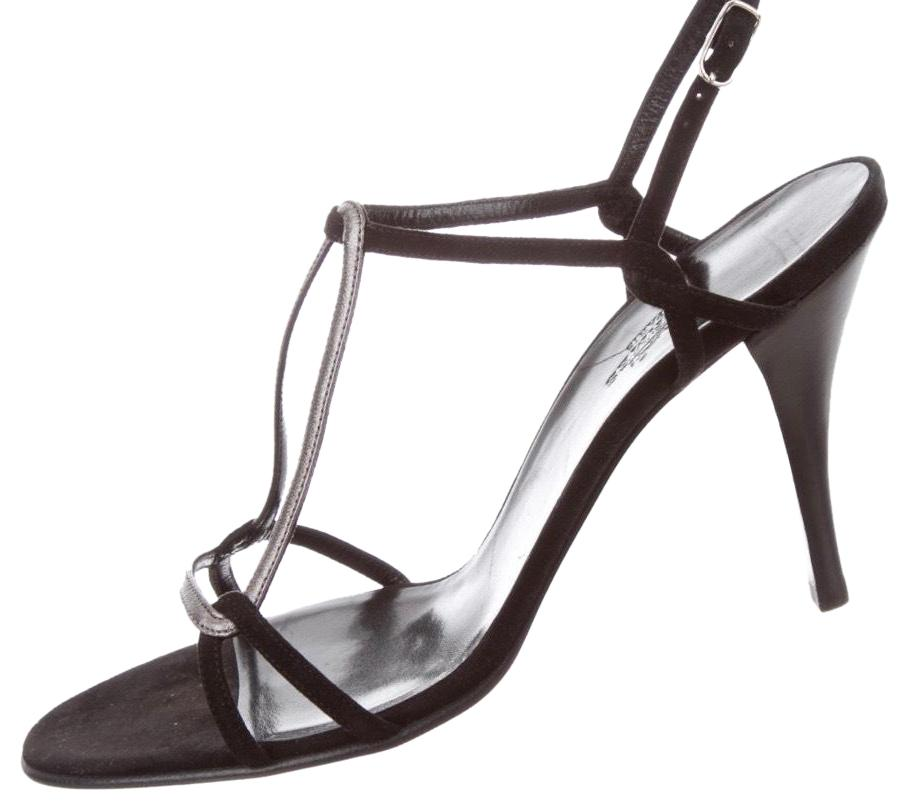 c80ab1385 Hermès Black New Suede Femme Ivresse Sandals Size US 9 9 9 Regular ...