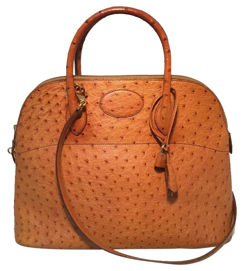 d91b338b1c4a ... cheap hermès bolide bolide bolide ostrich leather vintage tote in tan  662c4 a7025