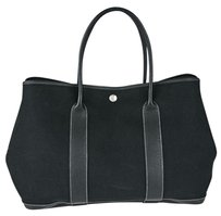 Herms Hermes Black Mm Tote Shoulder Bag