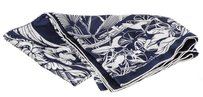 Herms Hermes Blue and White Tatouage Flamingo Party Scarf
