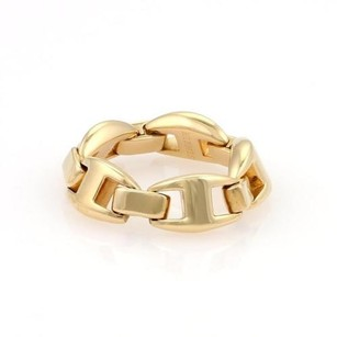 Hermès Hermes Chaine Dancre Enchainee 18k Yellow Gold Band Ring 6.25