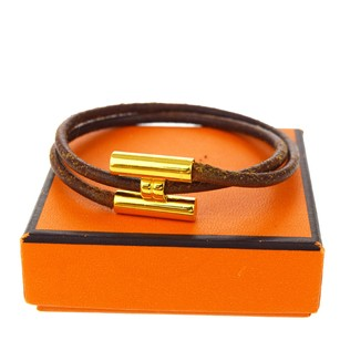 Herms HERMES Double Wrap Bracelet Bangle Leather