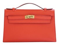 Herms Hermes Kelly Pochette Capucine Clutch