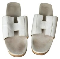 Herms Hermes Oran Oasis Sandal White Sandals