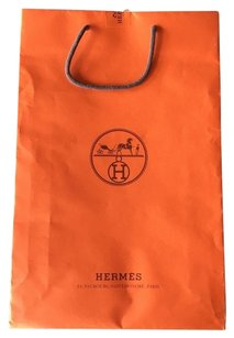 Hermès Orange Shopping Paper Shopping Tote