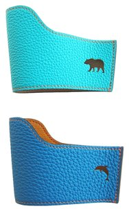 Hermès Hermes Petit H Bear Dolphin Cupholders Lagoon Turquoise Whimsical One of a Kind