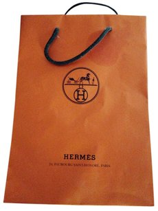 Herms Hermes shopping bag small wilth ribbon