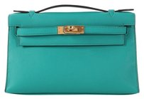 Hermès Hr.k1006.02 Peacock Teal Blue Swift Blue Paon Clutch