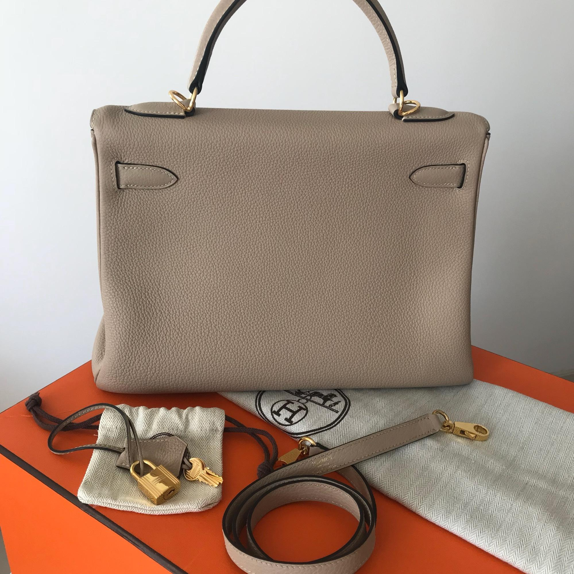 f0da8e05f0ced ... new style hermès kelly 32 gold hw gris tourterelle togo leather  shoulder bag tradesy e2163 cd398