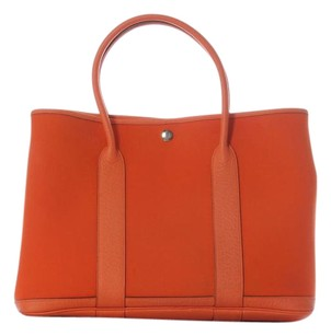 Hermès Orange Garden Party 36 Summer Hr.j0522.01 Tote