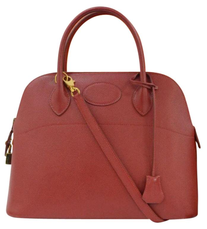 Hermès Rouge Epsom Leather 31cm Bolide Bag