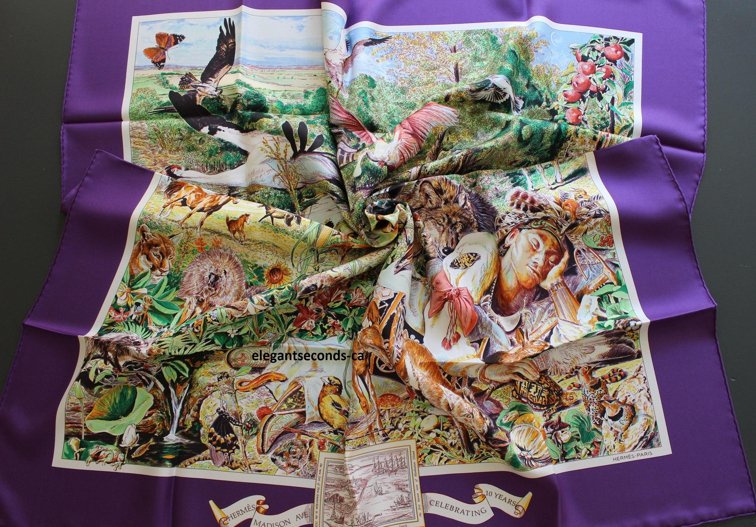 herm 232 s sale nwt auth kermit oliver hermes scarf